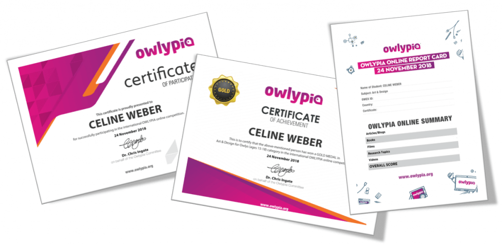 Owlypia Certificates