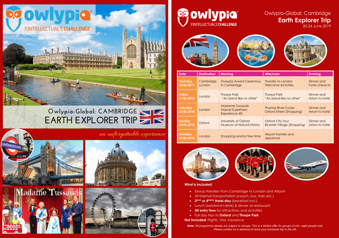 Owlypia Cambridge UK Trip